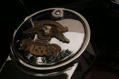 Harley Davidson: detall moto Trobada motera Sant Quirze 23 set 2012