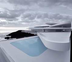 Concept / 687 on Behance Conceptual Architecture, Architecture Building Design, Minimal Architecture, Modern Architecture House, Facade Design, Futuristic Architecture, Modern Buildings, Beautiful Architecture, New Model House