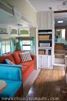 New School Nomads RV Makeover! Beautiful Job! I think I\'m in love! Nice traveling RV Blog to read.