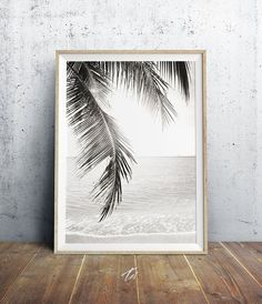 Palm Tree Print Beach Decor Palm Leaves Beach Photo by TaiPrints Tropical Home Decor, Tropical Houses, Tropical Decor, Tropical Furniture, Tropical Interior, Tropical Colors, Coastal Style, Coastal Decor, Plage Art Mural
