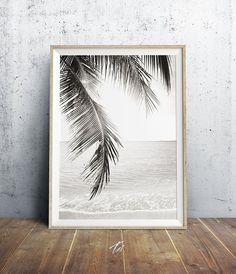 Palm Tree Print Beach Decor Palm Leaves Beach Photo by TaiPrints