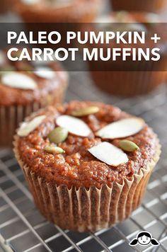 Paleo Pumpkin + Carrot Muffins