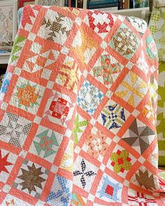 Block Head, Blue Block, Sampler Quilts, Half Square Triangles, Basic Grey, Small Quilts, Garden Gifts, Easter Baskets, Fabric Patterns