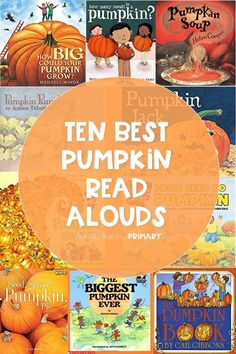 Looking for new read aloud books for your pumpkin unit? This collection of ten fiction and nonfiction books will make your pumpkin unit the best one yet. These books are just right for kindergarten, first grade, and second grade. Autumn Activities, Book Activities, First Grade Books, Pumpkin Books, Pumpkin Life Cycle, Halloween Books, Halloween Week, Read Aloud Books, Fallen Book