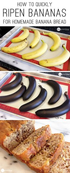 Ripen Bananas Fast.....This is a Great Cooking Hack for when you have a taste for Banana Bread and you don't have any over-ripened bananas.