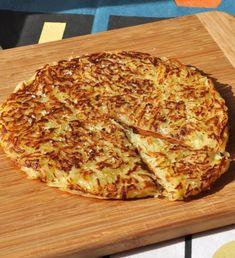 Rösti ou galette de pomme de terre - 500 g de pommes de terre à chair ferme épluchées puis râpées, 1 cc de sel fin, 20 g de beurre, fleur de sel et poivre du moulin et