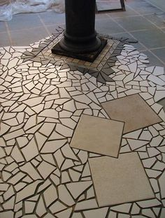 this is another section of a mosaic floor i created, flooring, tile flooring, tiling
