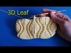 Tutorial - How to Crochet leaf Purse/Bag Crochet Stitches Free, Crochet Stitches For Beginners, Crochet Pouch, Crochet Cable, Freeform Crochet, Crochet Videos, Love Crochet, Crochet Designs, Crochet Patterns