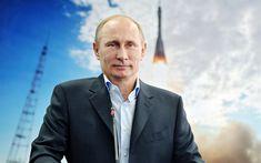 Download wallpapers Vladimir Putin, 4k, Russian President, portrait, Russian Federation