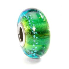 Trollbeads Silver Trace, Green Turquoise RETIRED