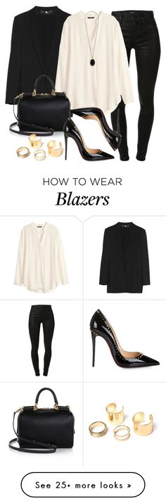 """Style #9336"" by vany-alvarado on Polyvore featuring Gucci, J Brand, H&M, Dolce&Gabbana, Christian Louboutin and Wallis"