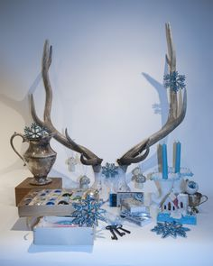 a blue Christmas with true vintage  styling/photo Heather Ross