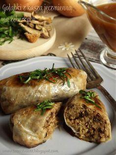 Gołąbki z kaszą jęczmienną na żeberkach - kuchnia podkarpacka