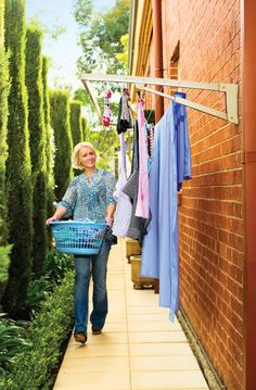 Urban Clothes Lines Cart for Drying Rack, Laundry Line and Clothes Line orders Laundry Lines, Laundry Room, Outdoor Clothes Lines, Outdoor Washing Lines, Clothes Drying Racks, Small Space Gardening, Outdoor Outfit, Line Design, Diy Clothes