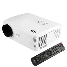 [$239.00] Uhappy U1 HD 1080P 3000LM Home Theater 1280*800 Projector for Video Games TV Movie, Support 3D + HDMI + YPbPr + DTV(HD DVB-T) + AV + S-Video + VGA(White)