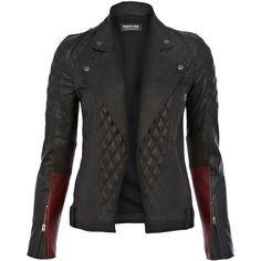 Francis Leon Black Loki Quilted Leather Jacket