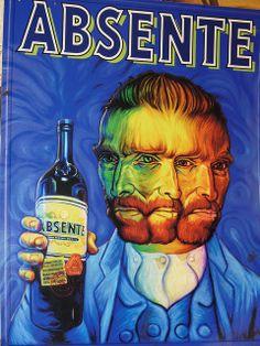 Van Gogh absente absinthe poster by Ron English Art Vintage, Vintage Posters, French Posters, Art Posters, Vintage Images, Paul Gauguin, Vincent Van Gogh, Van Gogh Arte, Absent