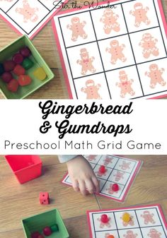 For our STEM with Candy Gumdrops activity I have created a fun and festive gingerbread & gumdrops grid game!