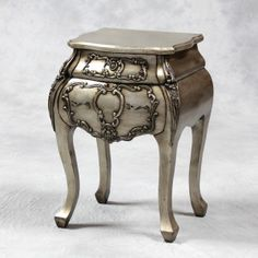Antique Silver Bombay Bedside