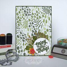 Stampin' Up! Enjoy The Little Things & Botanical Blooms stamp sets, Botanical Builder framelit dies
