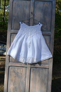 White romantic boho skirt M L XL recycled hips romantic skirt hippie boho style