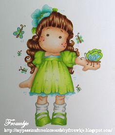 tuto;  Stap voor stap Tilda with hawaian flower kleuren met copics  Erg mooi