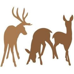 Silhouette Design Store - View Design #103105: deer family