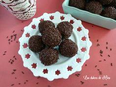 Trufas de chocolate y almendras