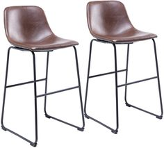 RFIVER Set of 2 pcs Vintage Barstool Chairs with Antique Brown PU Leather Seat and Black Sturdy Metal Base for Bistro Breakfast Kitchen Counter BS1004: Amazon.co.uk: Kitchen & Home Breakfast Bar Stools, Breakfast Bar Kitchen, Bar Set Furniture, Dining Furniture, Bar Stool Chairs, Leather Bar Stools, Chaise Bar, Kitchen Stools, Dining Set