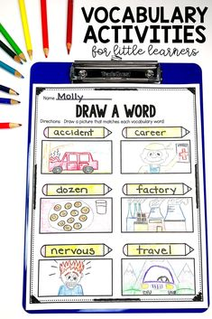 Vocabulary Activities (use with any list!) | Printable & Digital Included