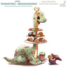 Daily Paint 1974# Teahistoric - Brachiosaurus by Cryptid-Creations