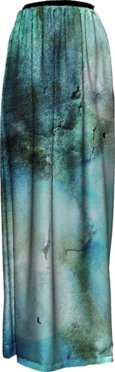enchanting-blue-texture-abstract-design LONG SKIRT PAOM-VFS from Print All Over Me