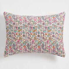World Market Floral Kantha Embroidered Amelia Pillow Shams Set of 2