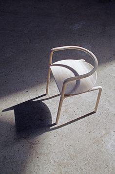 Loïc Bard and Nicolas Granger: The Funambule Chair — Thisispaper — What we save, saves us. Industrial Design Furniture, Furniture Design, Chaise Chair, Design Museum, Wishbone Chair, Comfort Zone, Interior Design, Wood, Inspiration