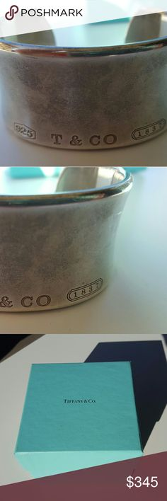 Tiffany 1837 Cuff Sterling silver, extra wide, gorgeous statement piece,  I hate to part with it but I must! Real Tiffany. Scuffed from ware,  please see close up photos. Good used condition. Tiffany & Co. Jewelry Bracelets