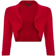 Phase Eight Shawl Collar Bolero, Red ($62) ❤ liked on Polyvore featuring outerwear, jackets, red bolero, lightweight jackets, bolero jacket, shawl collar jacket and light weight jacket