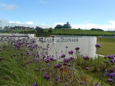 Marine Hall Gardens, Fleetwood  Concrete walls with Futura font