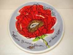 Ceramic painted plate