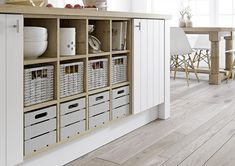 Milford feature open display base with a choice of storage inserts
