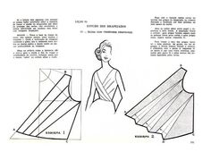 Sewing pattern for pleated top. Sewing pattern for pleated top. Techniques Couture, Sewing Techniques, Dress Sewing Patterns, Clothing Patterns, Skirt Patterns, Coat Patterns, Blouse Patterns, Vintage Patterns, Vintage Sewing