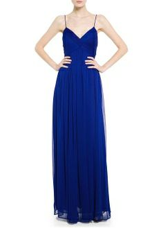 MANGO - CLOTHING - Dresses - Maxis - Draped neckline gown