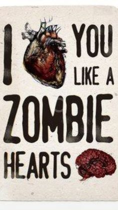 Zombie Love is my kind of Love!  <3 awwwwww i have to send this to chris!!!#