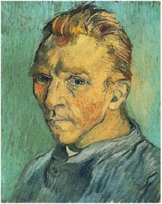 Vincent van Gogh Self-Portrait Without Beard Painting....September 1889...given to his mother as a birthday gift.  His last self- portrait.