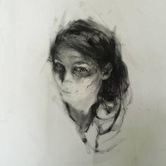 "Saatchi Art Artist Agnes Grochulska; Drawing, ""Selfportrait"" #art"