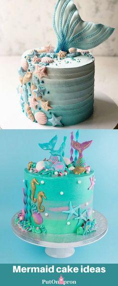 Savory magic cake with roasted peppers and tandoori - Clean Eating Snacks Mermaid Birthday Cakes, Mermaid Cakes, Mermaid Tail Cake, Ariel Mermaid, Mini Cakes, Cupcake Cakes, Sirenita Cake, Ocean Cakes, Zucchini Cake