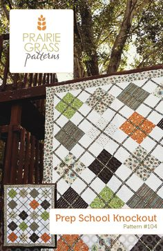 A fun and versatile twist on a classic argyle, this quilt uses ribbon for the stripes, instead of piecing. There are so many possibilities:...
