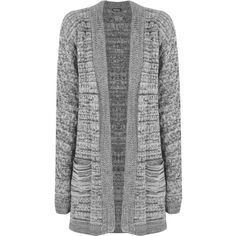 Lucinda Cable Knitted Cardigan ($29) ❤ liked on Polyvore featuring tops, cardigans, grey, grey cardigan, gray top, long sleeve cardigan, gray cable knit cardigan and striped cardigan