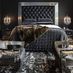 When the rest of the house is light and pretty and warm, but the bedroom reveals your true personality!