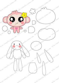 cute felt mascots 5