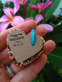75 petite bird seed hearts with personalized by GreenDoxieEvents